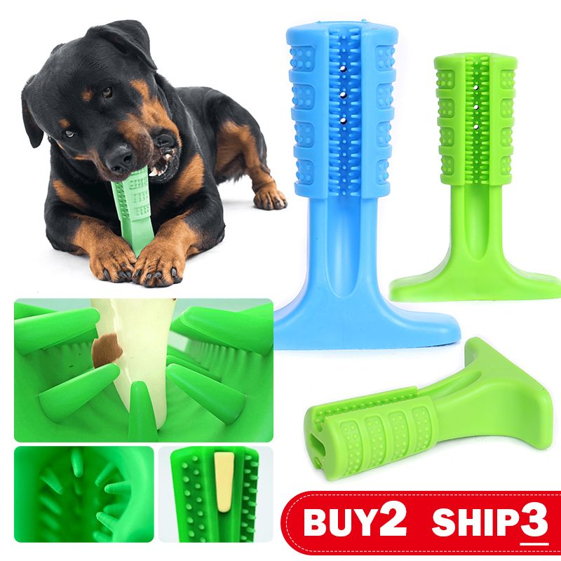 Dog Toys Tooth Brush Bite-Resistant Bone Pet Dog Chew Toys Remove Bad Breath Cleaning Tooth Small Large Dog Supplies Health Toys