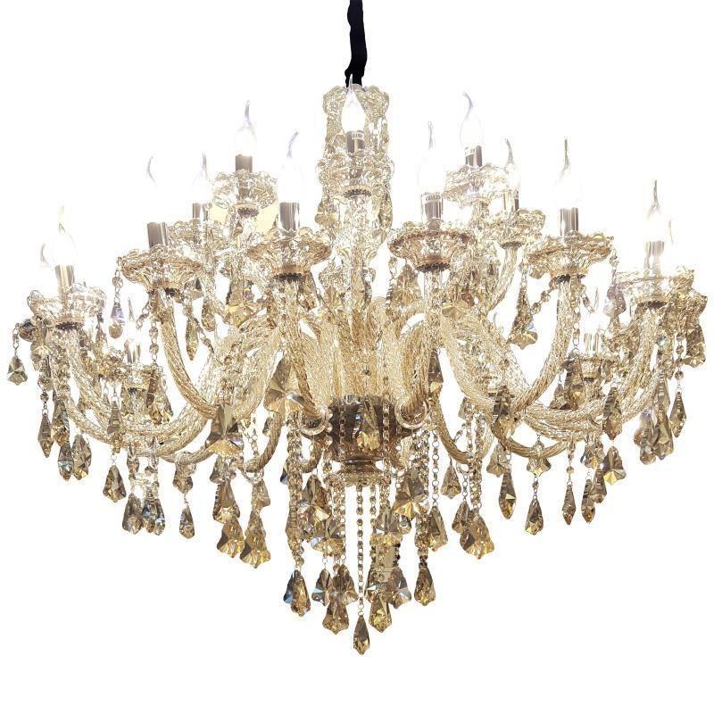 European Touw Lamp Lustre E Pendente Para Sala De Jantar Crystal Loft Suspension Luminaire Luminaria Deco Maison Pendant Light