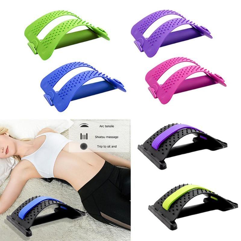 1pc dos extensible équipement masseur magique civière Fitness soutien lombaire Relaxation colonne vertébrale soulagement de la douleur correcteur soins de santé