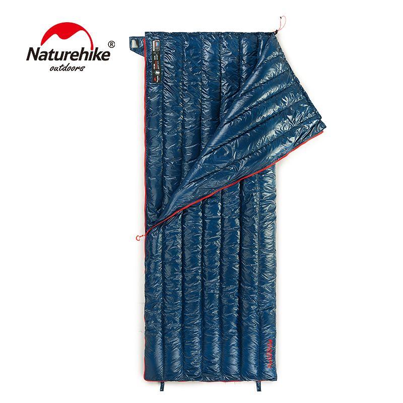 Naturehike CWM400 Ultraleicht Umschlag Art Schlafsack Gans Unten Faul Tasche Camping Schlafsäcke 790g NH17Y010-R