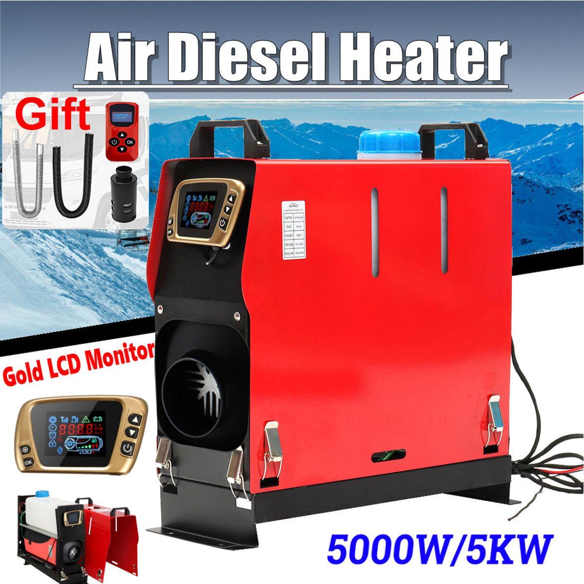 Alle In Einem 5000 W Air diesel Heizung 5KW 12 V Auto Heizung Für Lkw Motor-Häuser Boote Bus + neueste LCD schlüssel Schalter + fernbedienung