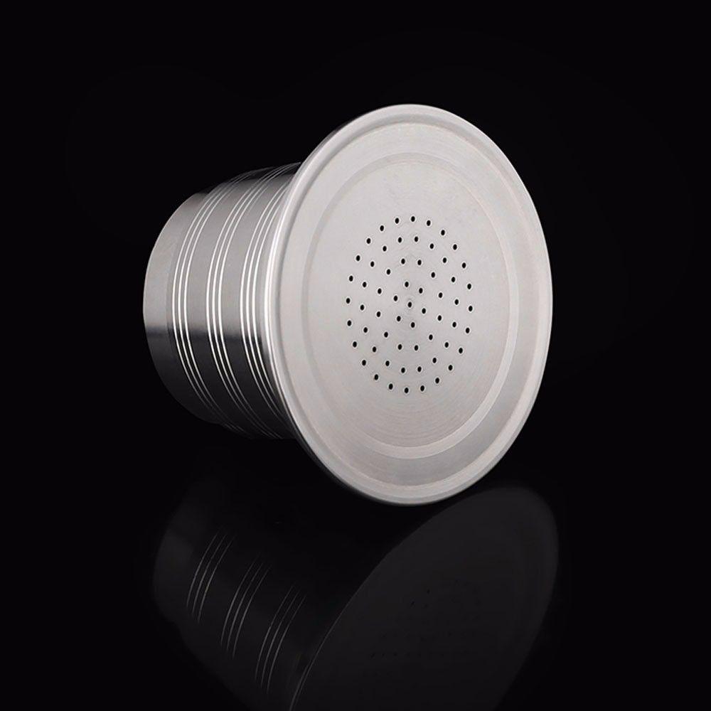 Nouveau Nespresso rechargeable mise à niveau trou rond réutilisable café goutteur en acier inoxydable vide Capsule en métal réutilisable café filtre tasse