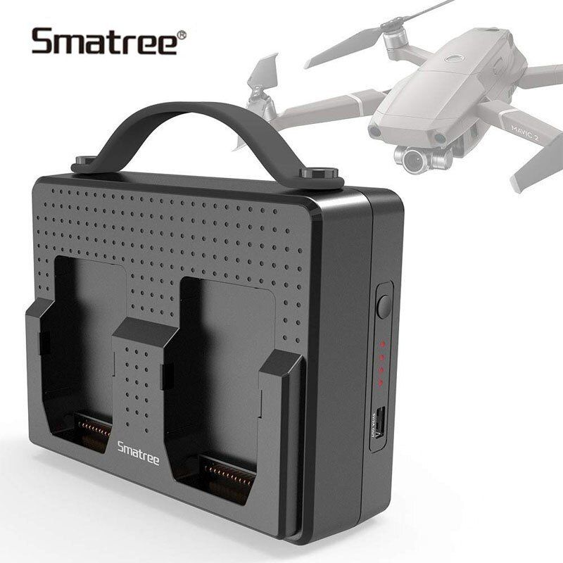 Smatree Portable Batteries For DJI Mavic 2 Pro Charging Station Compatible Charge Two Mavic 2 Pro Batteries Simultaneous