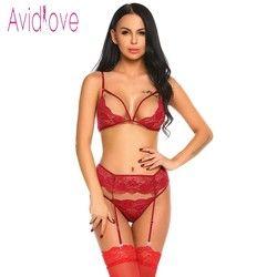Avidlove Open Cup Bh Plus Size Erotische Dessous Sets Spitze Nachthemden Sexy Bh Panty Womans Dessous Und Exotische Sets Sex produkte