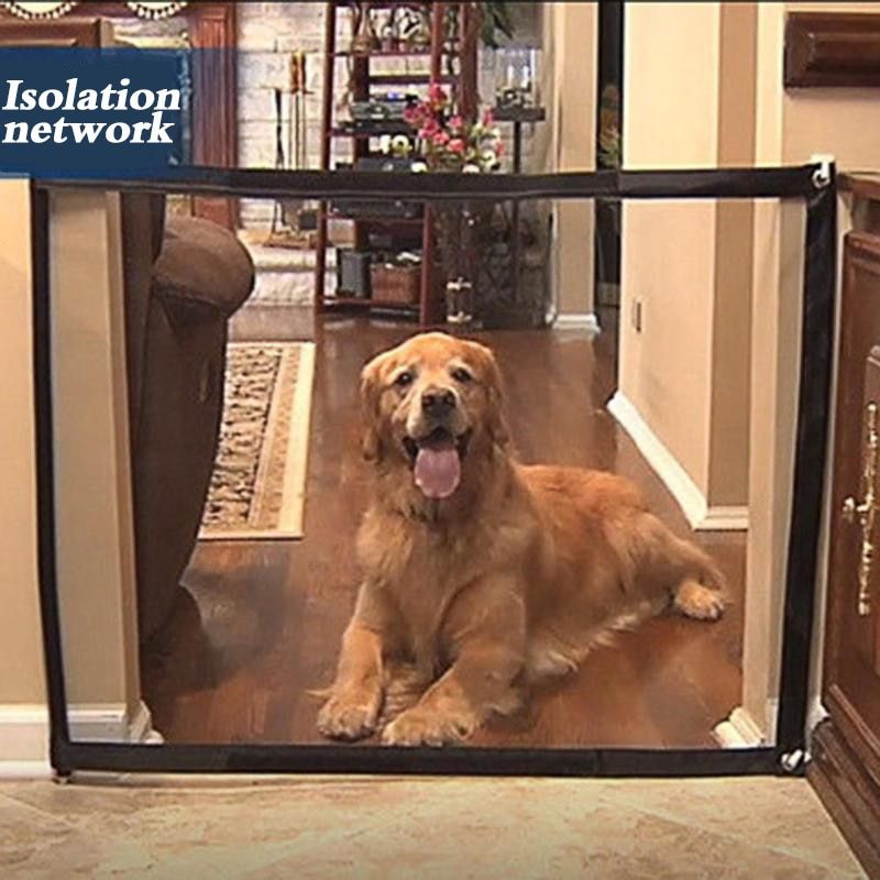 Dropshipping Dog Gate The Ingenious Mesh Magic Pet Gate For Dogs Safe Guard and Install Pet Dog Safety Enclosure Dog Fences