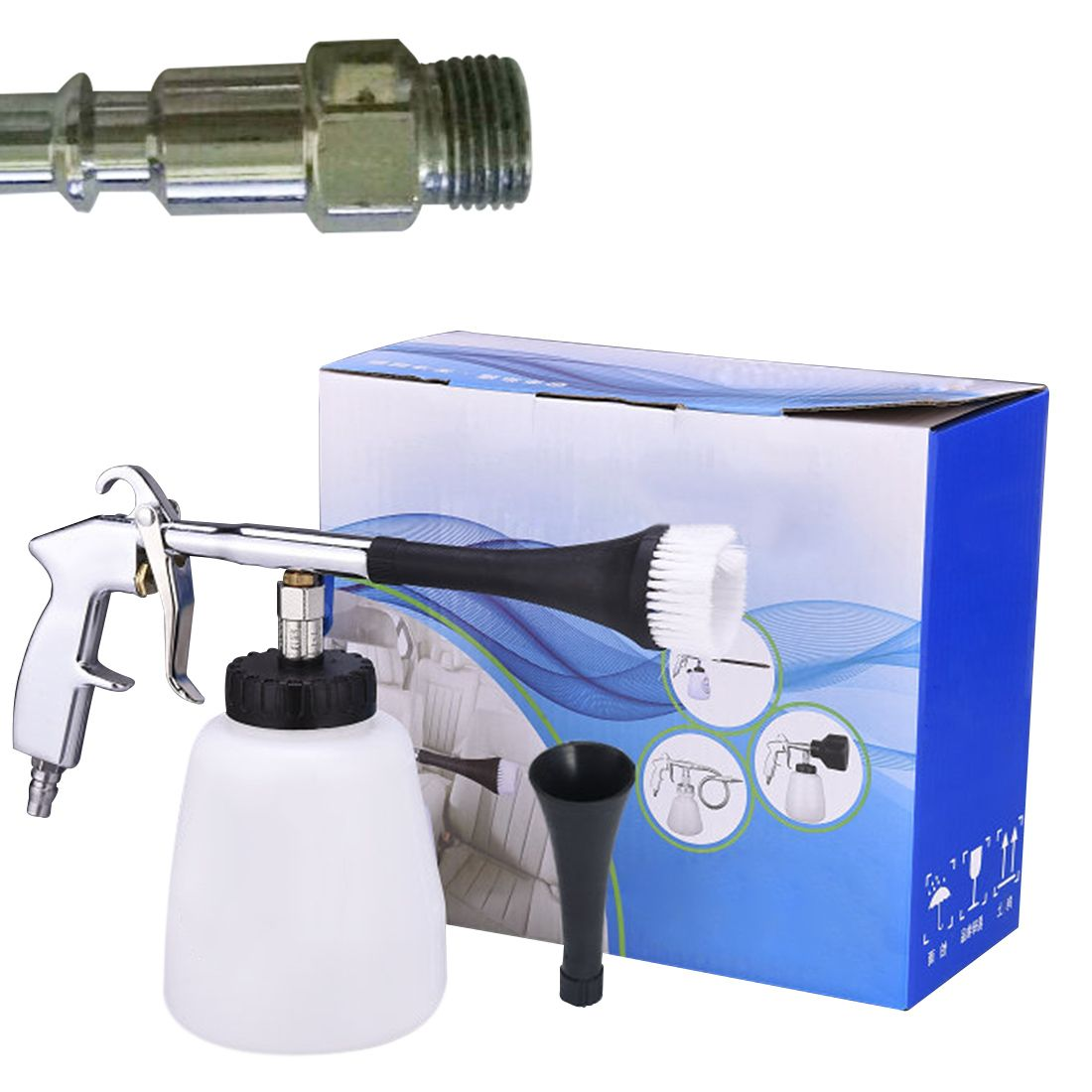 New hot High pressure washer car cleaning tool Spray gun car interior dry cleaning machine Tornado cleaning gun Cleaning the gap