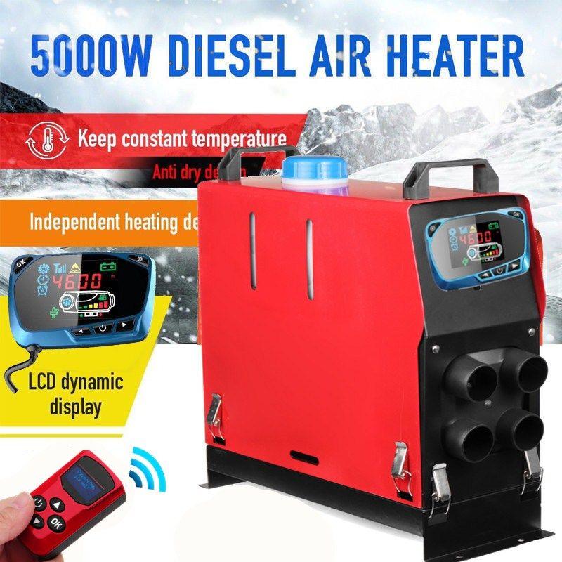 Alle In Einem 3000 W/5000 W Air diesel Heizung 3KW/5KW 12 V Auto Heizung Für Lkw motor-Häuser Boote Bus + Neueste LCD schlüssel Schalter + Fernbedienung