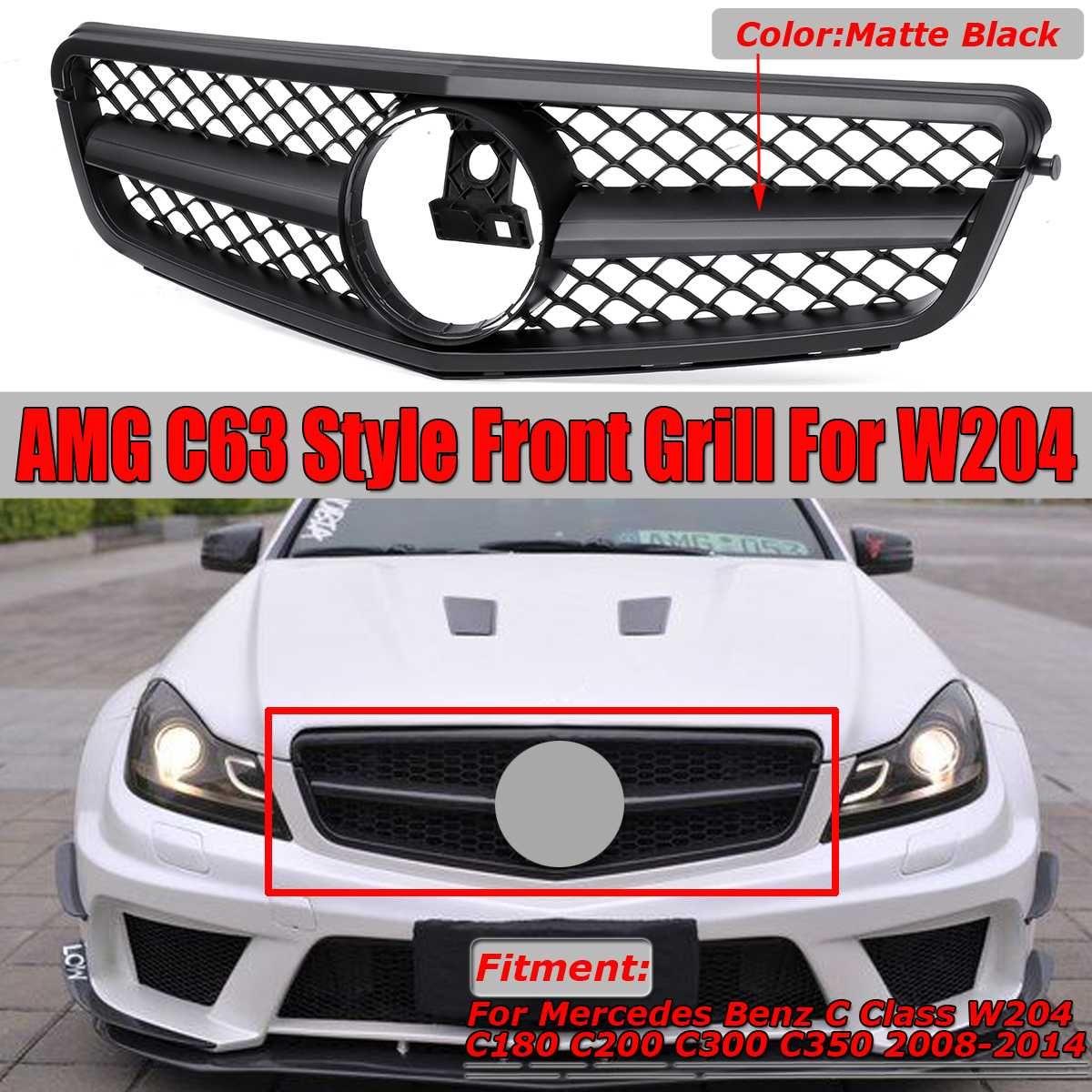 Neue C63 Für AMG Stil Auto Kühlergrill Grill Für Mercedes Für Benz C Klasse W204 C180 C200 C300 C350 2008-2014 Racing Grills