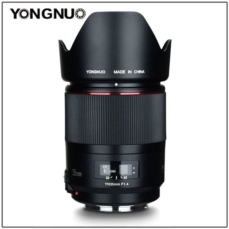 YONGNUO YN35MM F1.4 Objektiv Standard Weitwinkel Objektiv für Canon Helle Blende Prime DSLR Kamera Objektiv für 600D 60D 500D 400D 5D II