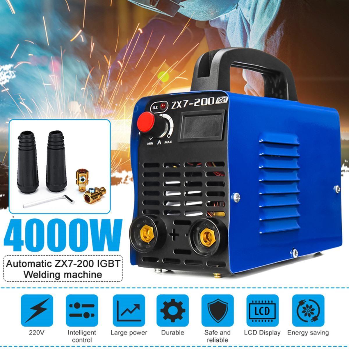 4000 watt 20A-200A Einstellbar Tragbare Mini Handheld IGBT Inverter Arc Schweißen Maschine Digitale Elektrische-Schweißer Inverter Maschine Werkzeug