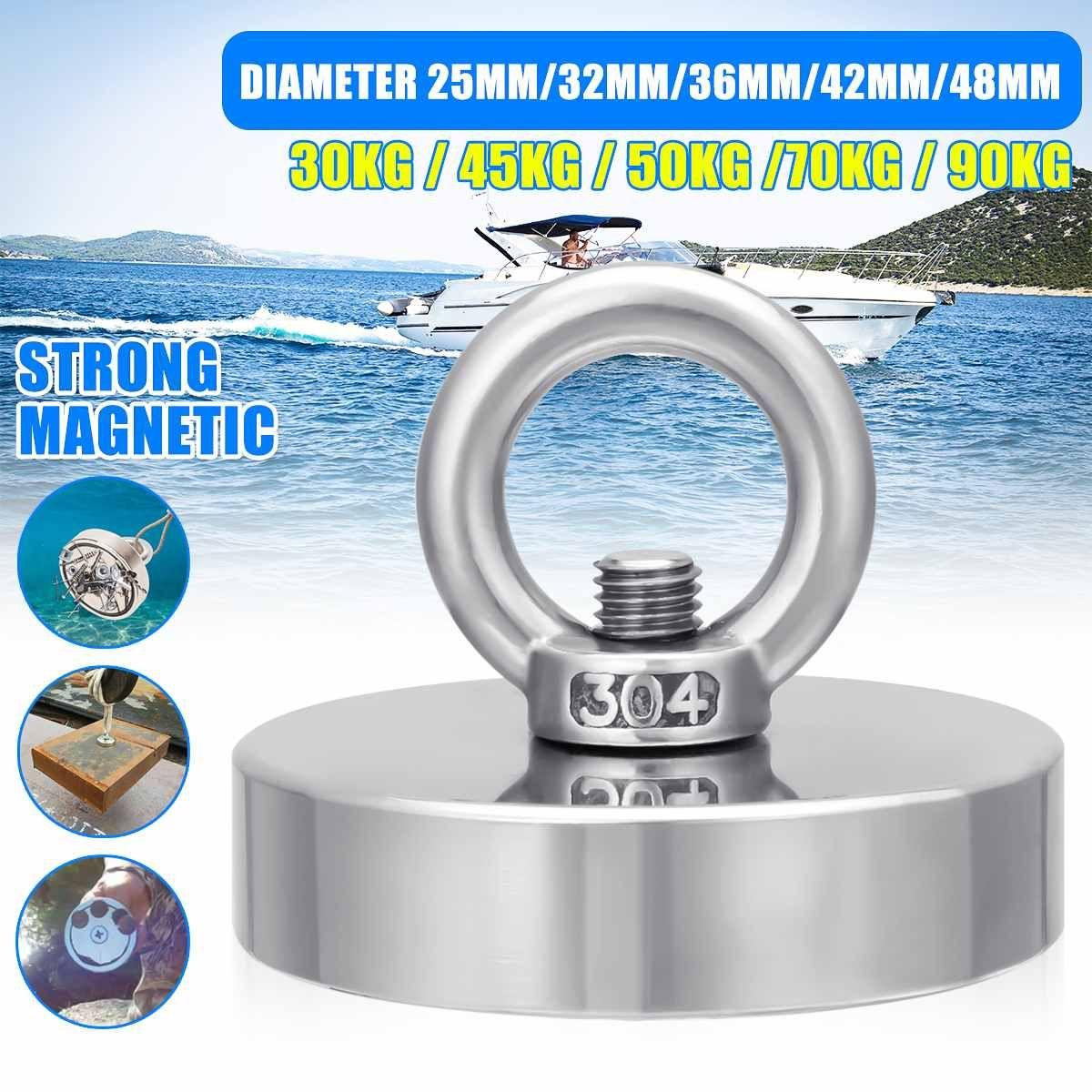 D120mm 600 kg forte récupération néodyme aimant pêche Deap mer récupération récupération récupération trésor chasse aimant