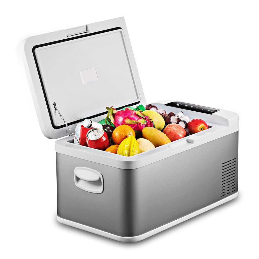 18L BK - 18 Portable Car Refrigerator Touch Screen control for Home Picnic Party Multi-Function Cooler Heater Vehicular Fridge