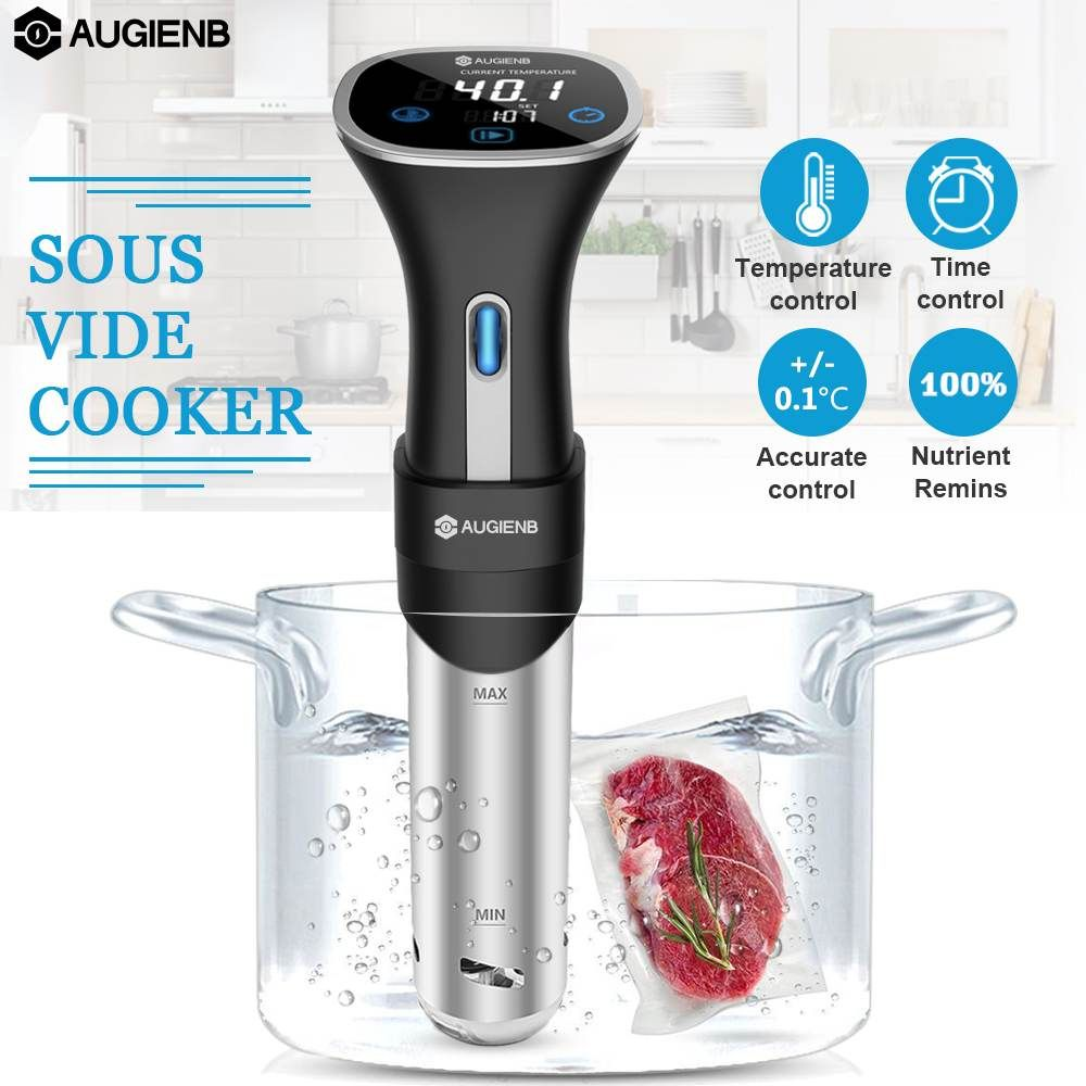 AUGIENB Sous Vide Cook Immersion Heater Circulator Accurate Temperature Control Digital LCD Display sous-vide Slow Cooker