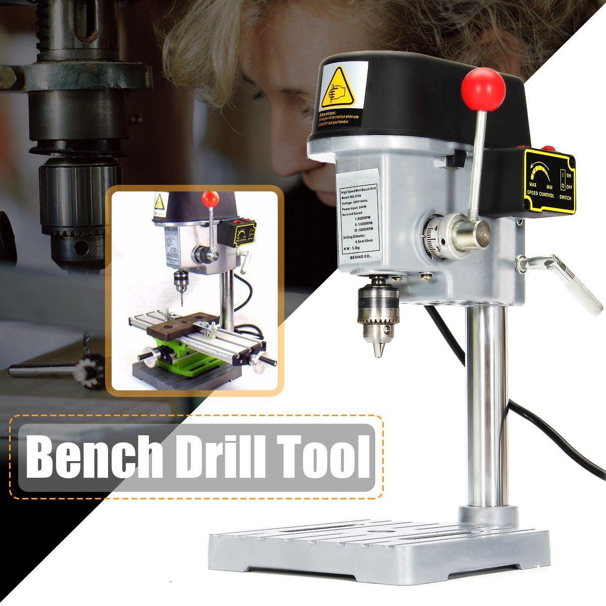Mini perceuse 240 W pour banc perceuse vitesse Variable mandrin de perçage 0.6-6.5mm pour bricolage bois métal outils électriques