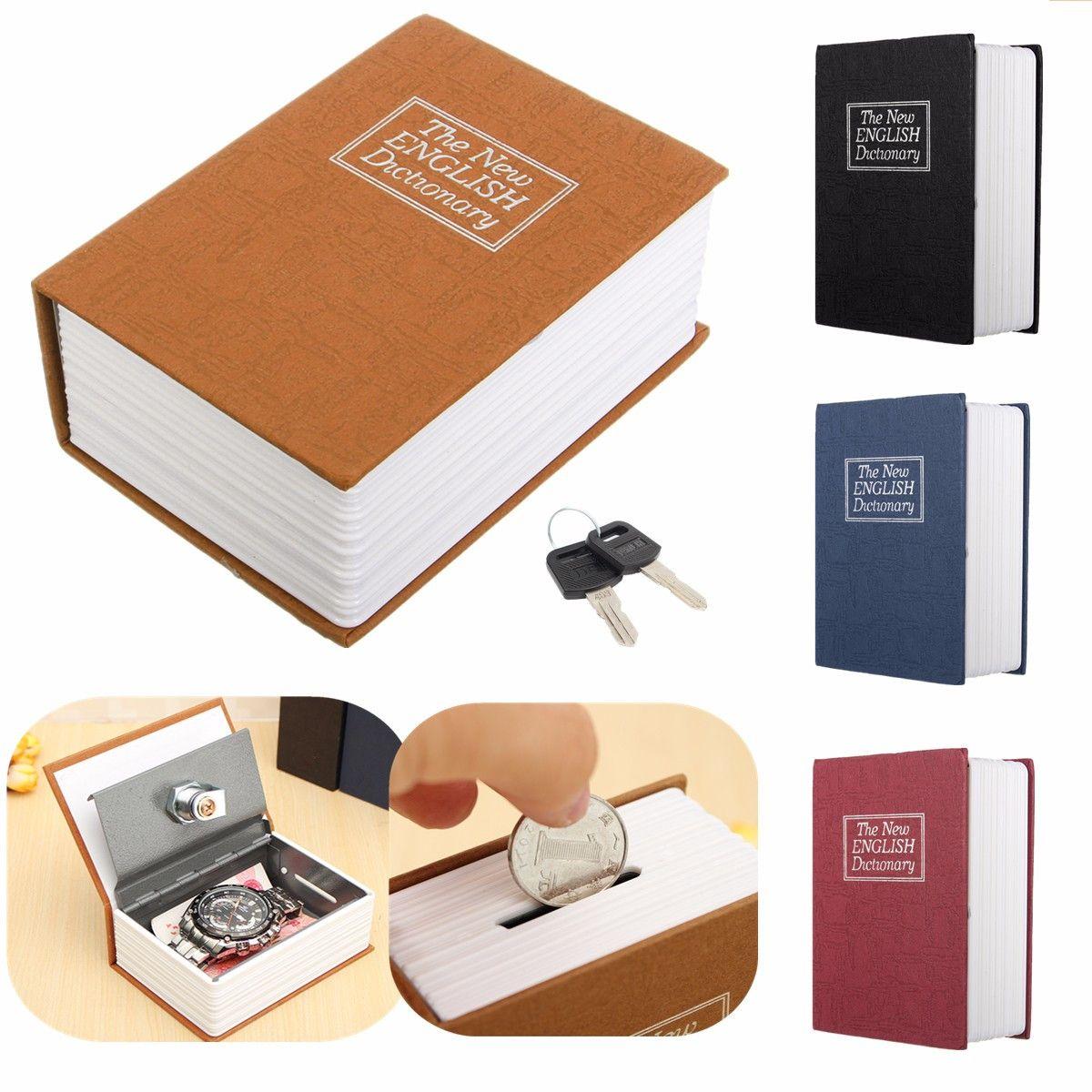 Wörterbuch Mini Safe Buch Geld Verstecken Geheimnis Sicherheit Safe Lock Cash Geld Münze Lagerung Schmuck key Locker Kid Geschenk