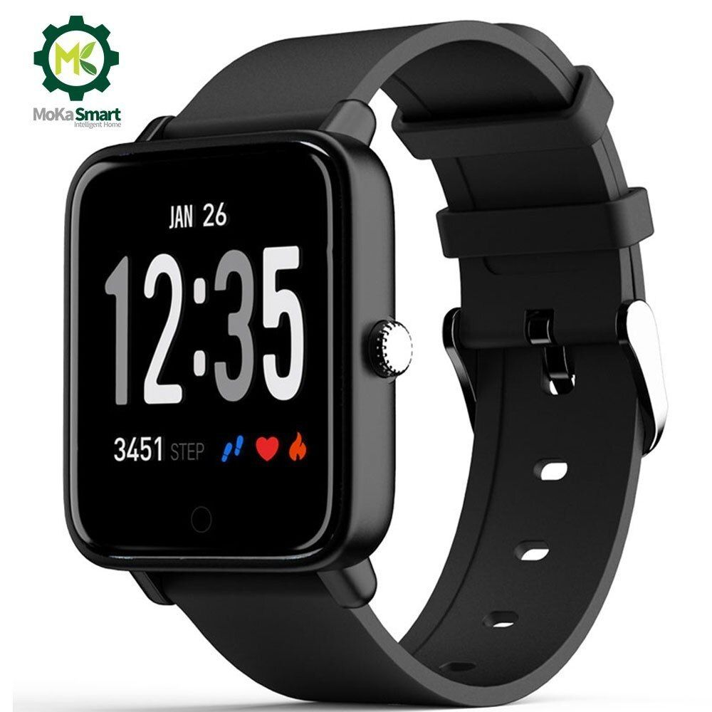Moka Fitness watch 0.95 Color Screen Waterproof Heart Rate Monitor Smart bracelet Bluetooth Men For Android Ios