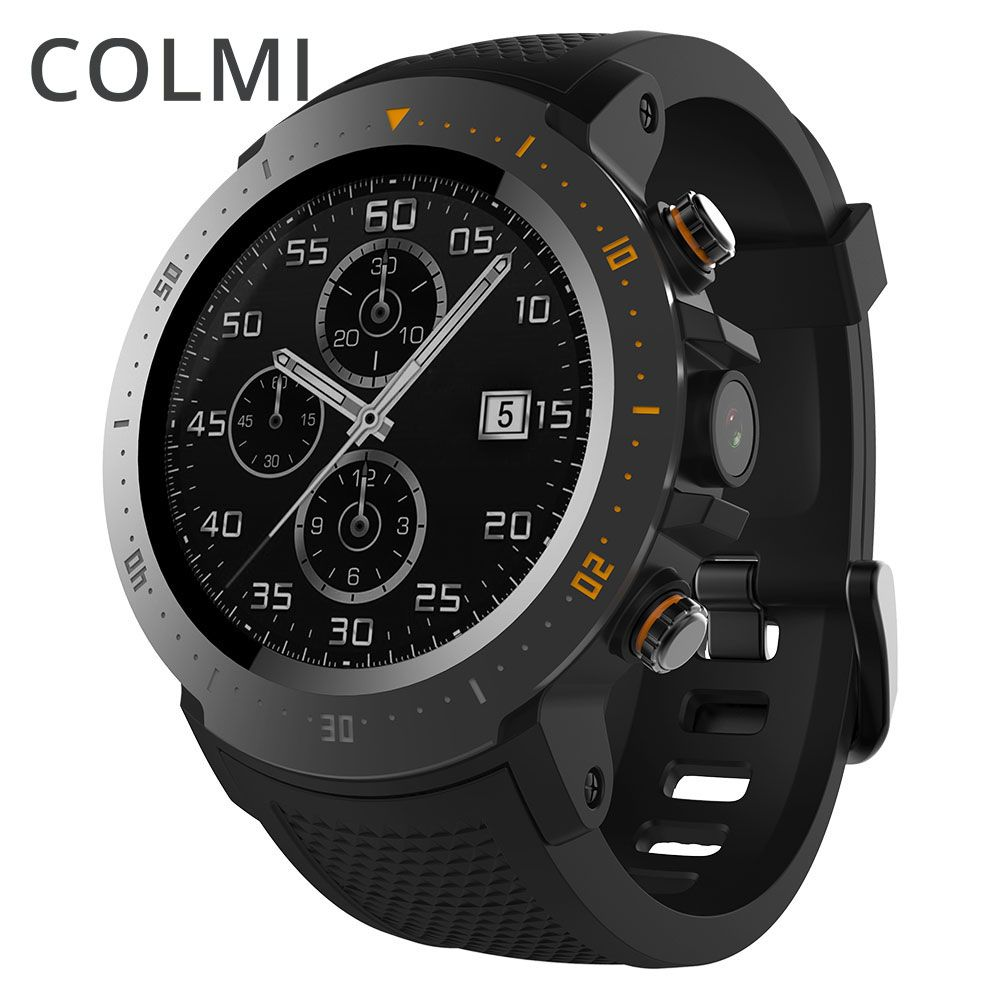 COLMI Flagship 4g Smart uhr Android 7.1 OS MTK6739 1 gb + 16 gb 400*400 Display 530 mah IP67 wasserdichte GPS Männer Smartwatch