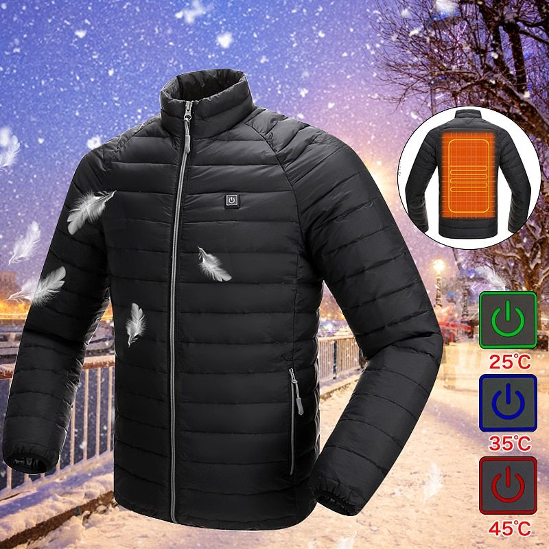 Beste Preis Verbesserte Männer Im Freien Sicherheit Kleidung USB Infrarot Heizung Weste Jacke Winter Carbon Faser Elektrische Thermische Kleidung W