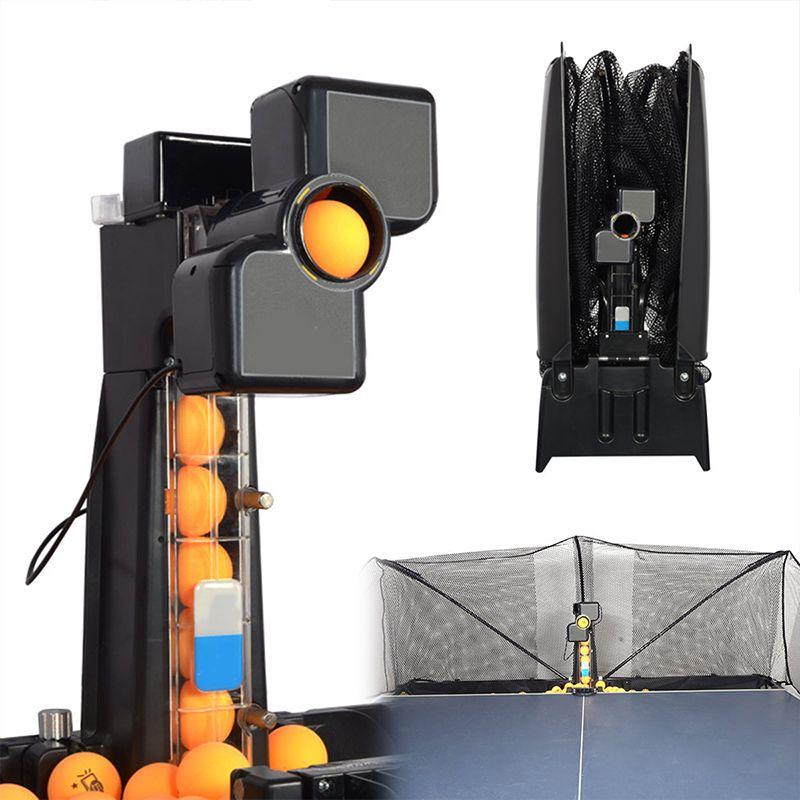 80x34x34 cm 50 W Automatische Roboter Tischtennis Ping-pong Ball Maschine Praxis Recycle Mit 100 bälle 0-9 Kopf Schwingen Geschwindigkeit Neue