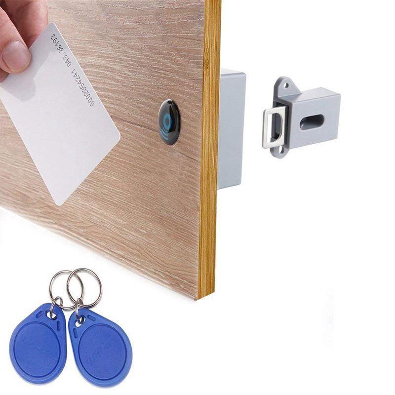 Invisible caché RFID ouverture libre Intelligent capteur armoire serrure casier armoire à chaussures armoire tiroir porte serrure électronique Da