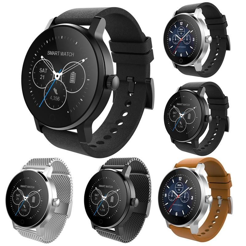 SMA-09 1.3 Smart watch IP54 waterproof Tempered glass Activity Bluetooth Fitness tracker Heart rate monitor Men women smartwatch