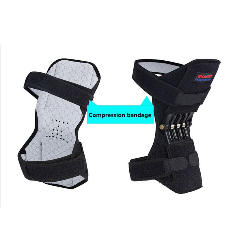 Sport Knee powerleg Protector Spring Brace Strap Mountain Climbing Running powerknee Booster KneePad Knee Joint Protection Band