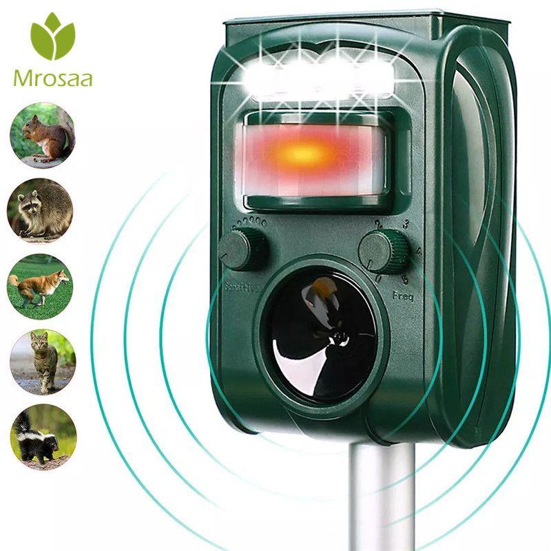Garten Solar Powered Ultras onic Outdoor Tier Repeller Motion Sensor-Flash-Licht Hund Katze Waschbären Kaninchen Tier Dispeller