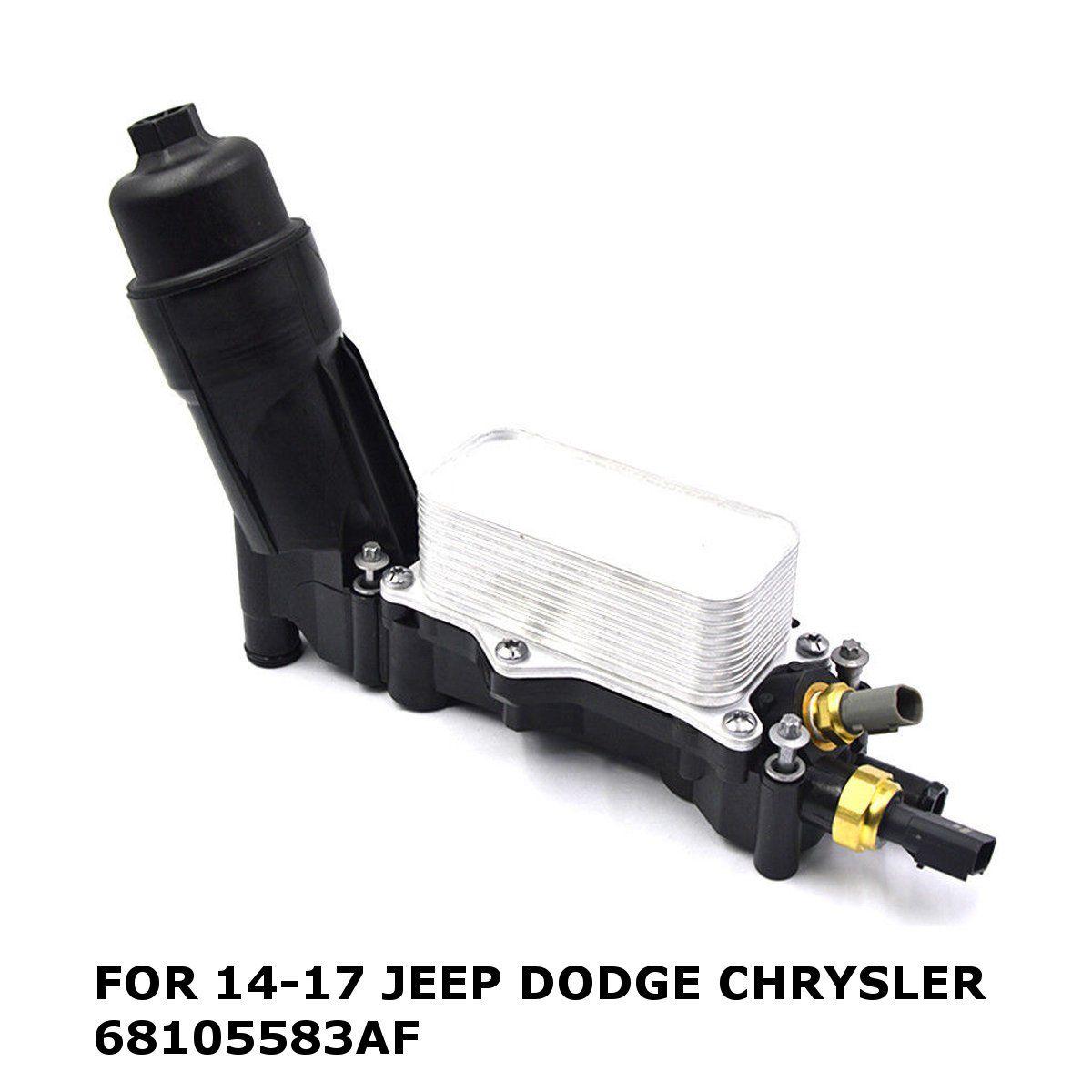 Engine Oil Filter Adapter Housing For Jeep for Dodge Chrysler 3.6 V6 2014-2017 68105583AF 68105583AB
