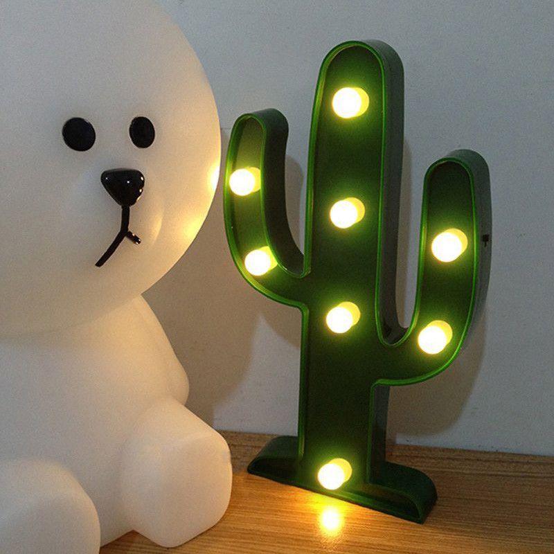 Lumiparty 3D mignon Cactus lumière lampe LED décoratif bébé veilleuse Dim humeur lampe 2AA à piles enfant chambre Deration