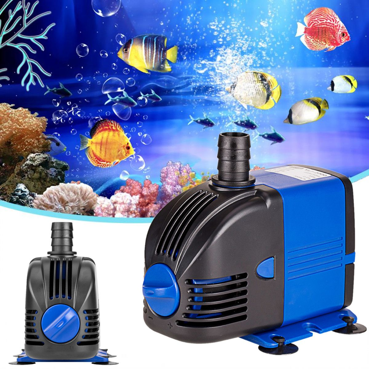 Water Pump Fish Tank AC220-240V 50Hz 3-60W Submersible Aquarium Powerhead Fountain Hydroponic US Plug Ponds Aquariums Adjust