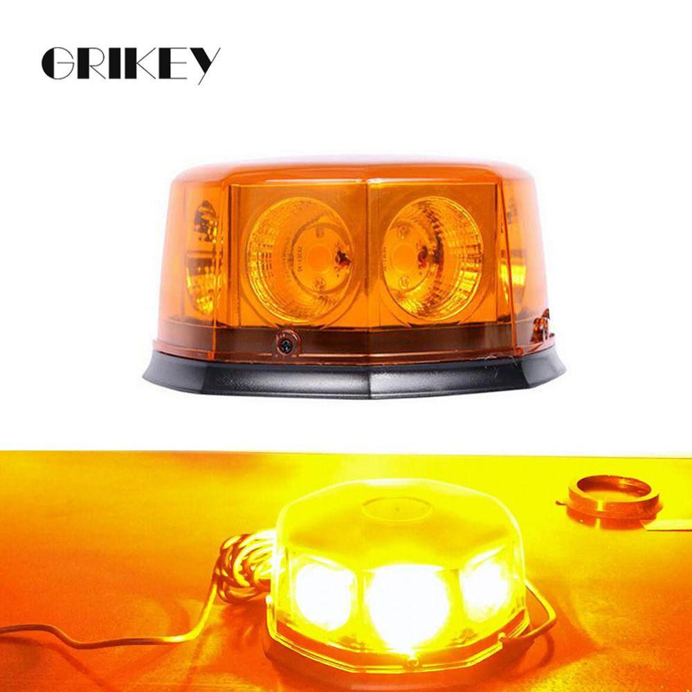 8 LED balise voiture feux de secours avertissement de danger Auto lumière stroboscopique w/Base magnétique 12 Mode clignotant