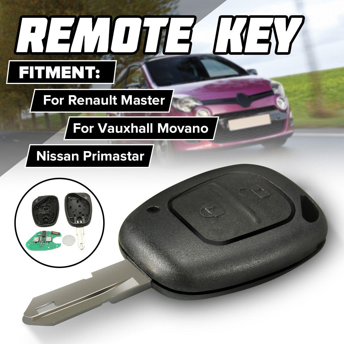 2 BTN Remote Key Fob für Renault Master Trafic für Vauxhall für Movano Inter Für Nissan Primastar 02-09 mit PCF 7946AT chip