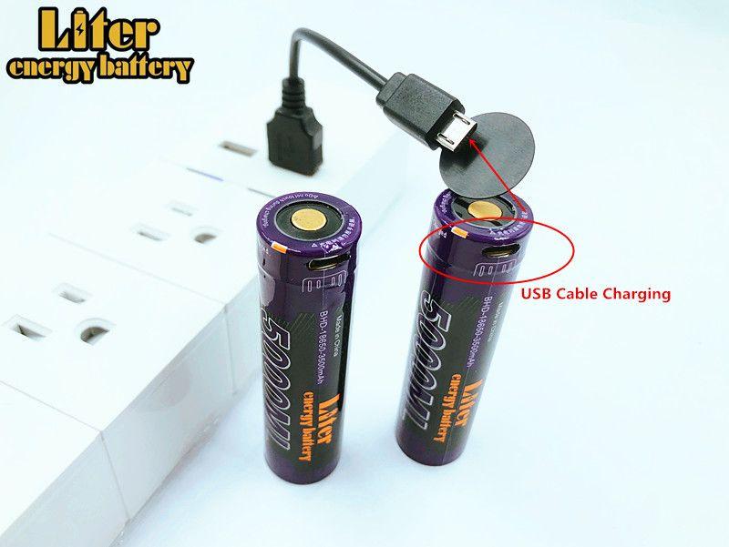 5000ML USB 3.7V 18650 3500mAh Li-ion USB 5000ML Rechargeable Battery LED Indicator Light DC-Charging +USB wire