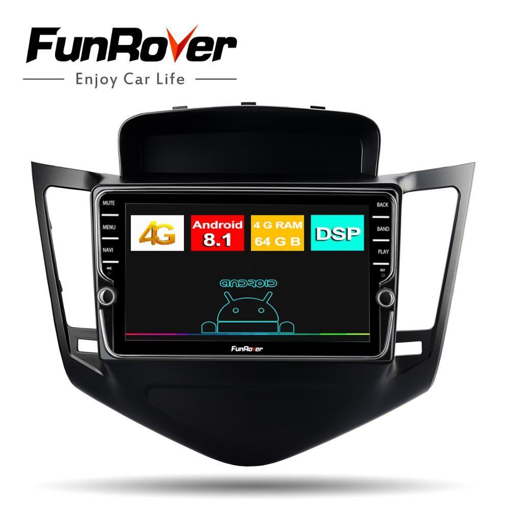 Funrover Octa Core auto radio Multimedia stereo player 2 din android 8.1 Für Chevrolet Cruze 2009-2013 auto gps navigation DSP LTE