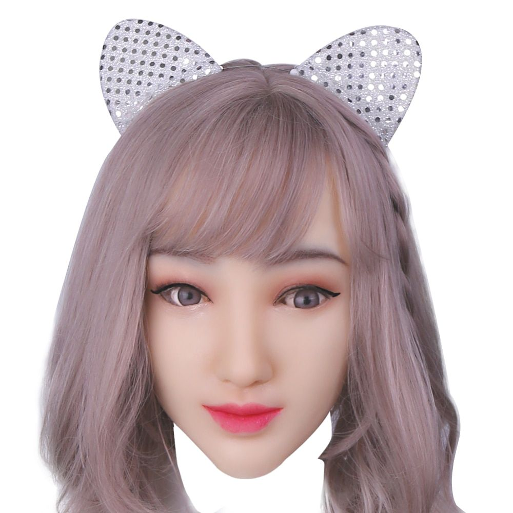 KOOMIHO Weiche Silikon Realistische Weibliche Kopf Maske Handgemachte Make-Up Maske Crossdress Cosplay Maske Transgender Halloween Maske 1G