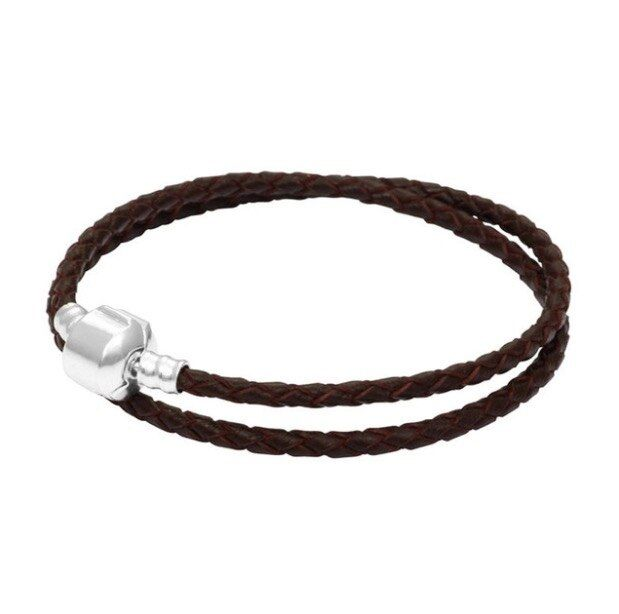PDC Black Leather Bracelet for Women ten Colors Magnet Clasp Christmas Gift Jewelry