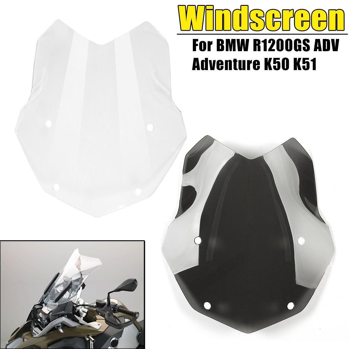 Schwarz Klar PMMA Motorrad Windschutzscheibe Windschutz Protector Für BMW R1200GS ADV Abenteuer K50 K51 Motorrad Teile