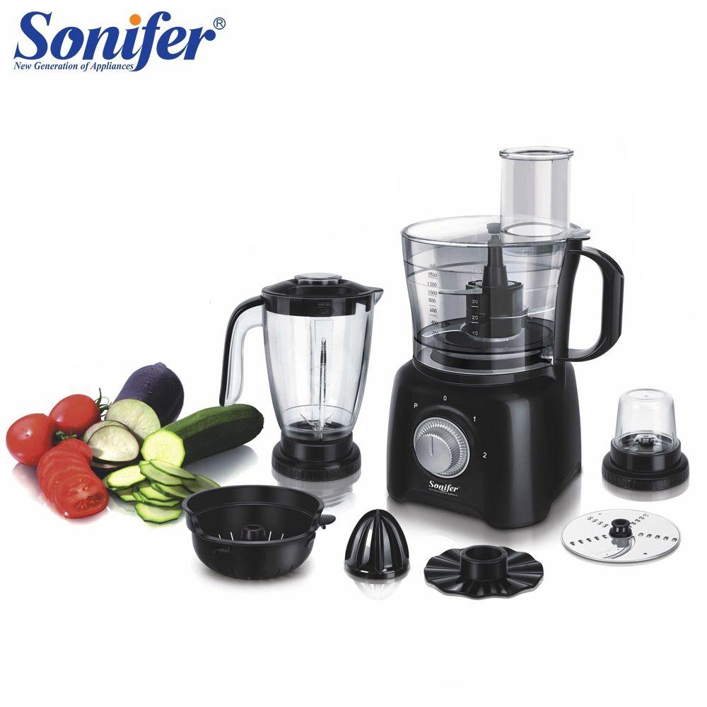 Multifunktions 8 in 1 elektrische lebensmittel mixer mixer küche hand mixer schneebesen gemüse Fleischwolf stehen mischung Sonifer