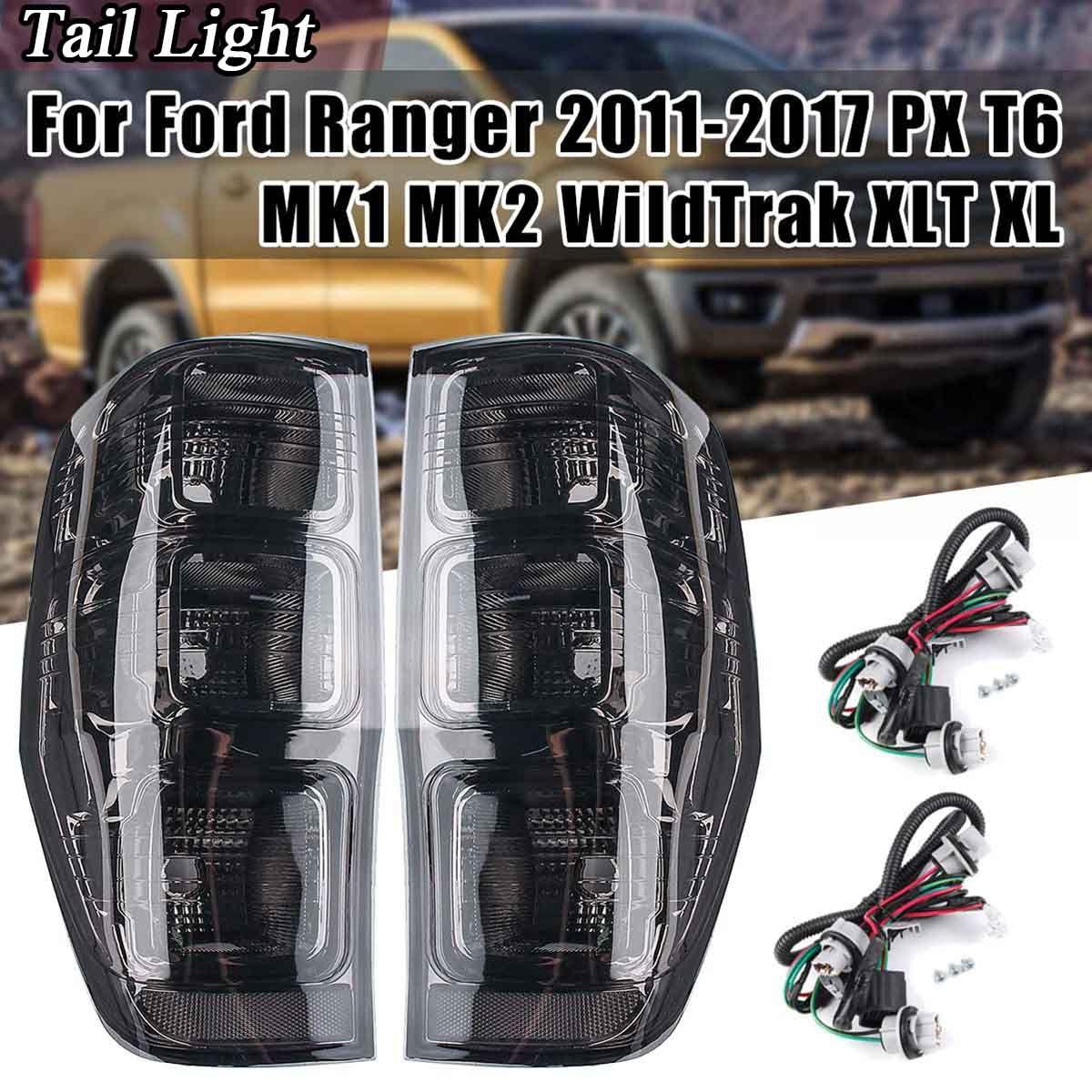 2 Pcs Auto Rauch Rückleuchten für Ford Ranger PX T6 MK1 MK2 WildTrak XLT XL XLS 2011-2018 rücklicht Seite Bremse Hinten Lampe Styling