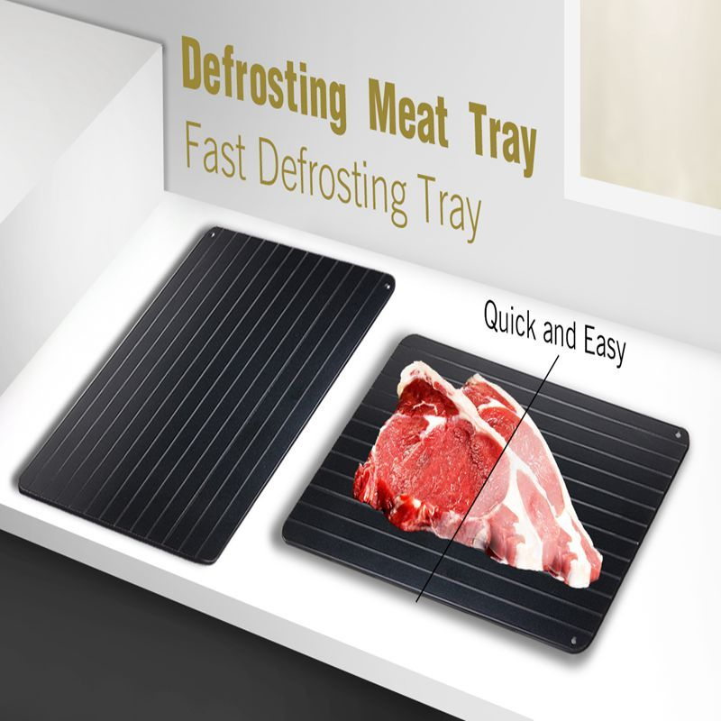 35.5*20.5*0.2cm Quickly Safety Defrosting Meat Tray Rapid Thawing Tray For Frozen Food Chopping Blocks Kitchen Tool Black