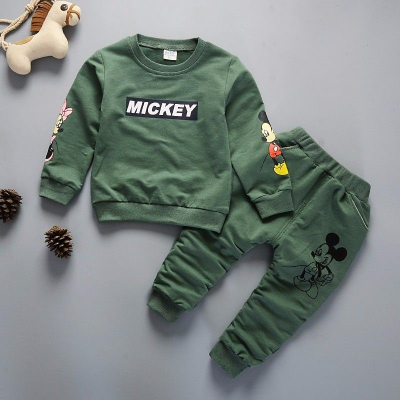 New Spring Autumn Children Clothing Boys Cartoon Casual Sports T-shirt Pants 2pcs/Set Infant Outfit Kids Clothes Suit Tracksuits