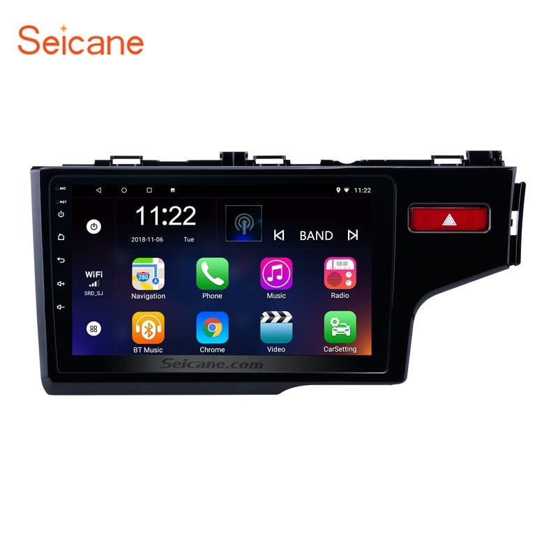 Seicane 2Din Android 6.0/7,1/8,1 10,1 Auto Radio GPS Navi Multimedia Player Touchscreen Kopf Einheit Für 2014 2015 HONDA JAZZ/FIT