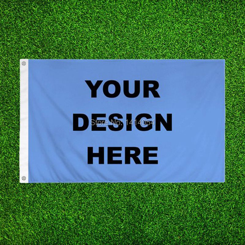 Custom Flag 3x5FT Any Logo Banner 100D Polyester Print Decoration Sports Advertising Outdoor Flag Brass Grommets, Free Shipping