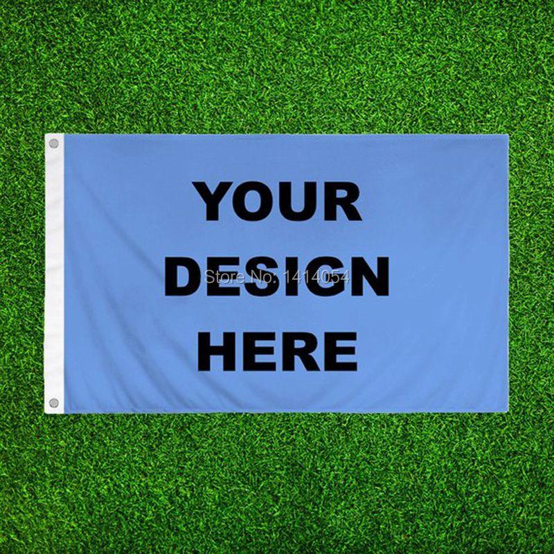 Drapeau personnalisé 3x5FT tout Logo bannière 100D Polyester impression décoration sport publicité extérieure drapeau laiton œillets, livraison gratuite