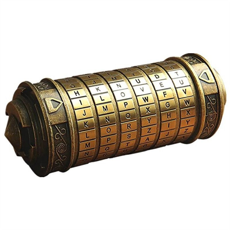 Leonardo Da Vinci Code Toys Metal Cryptex Locks Wedding Gifts Valentine's Day Gift Letter Password Escape Chamber Props