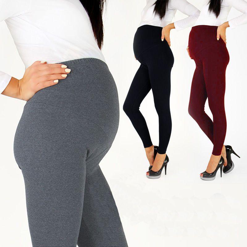 2019 offre spéciale réglable grande taille Leggings nouveau pantalon de maternité Leggings femmes enceintes mince doux coton pantalon taille haute vêtements