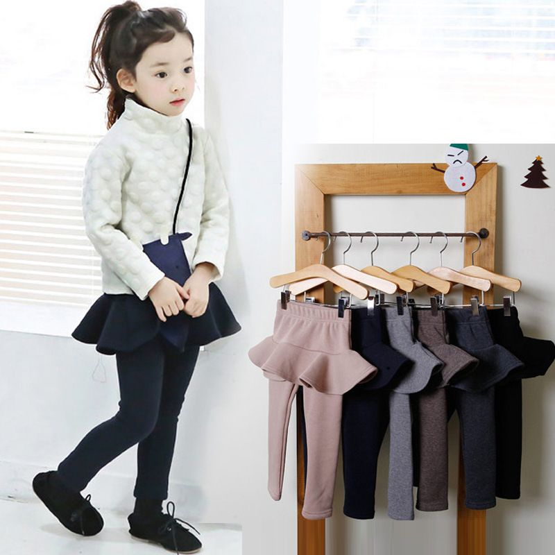 2019 Girls Pants Kids Leggings 2-10Y Children Clothing Autumn Cotton Leggings Baby Girl Skirt-pants High Quality