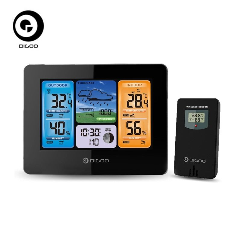 Digoo DG-EX001 WIFI APP Smart Weather Station Wireless Color Screen Temperature Humidity Outdoor Sen