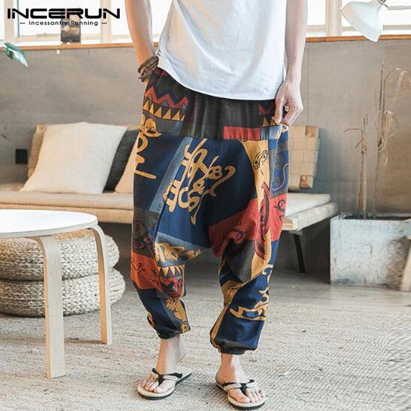 New Hip Hop Aladdin Hmong Baggy Cotton Linen Harem Pants Men Women Plus Size Wide Leg Trousers New Casual Pants Cross-pants