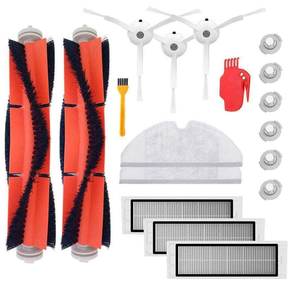 Brosse principale Hepa Filtre Côté Brosses Remplacement pour Xiao mi mi Robot Roborock s50 s51 Roborock 2 Aspirateur Accessoire kit